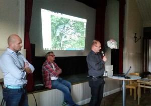 Chirstian Russberg och Gunne Isacsson, Kewab samt Per Andersson, Bravida.
